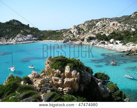 Sardegna spargi bay with blue water