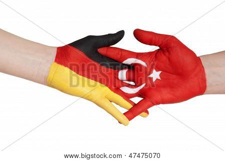Handshake Between Turkey And Germany