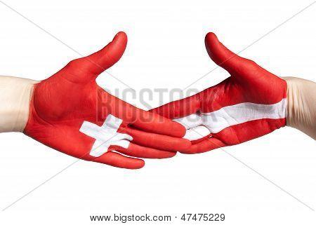 Swiss-austrian Handshake