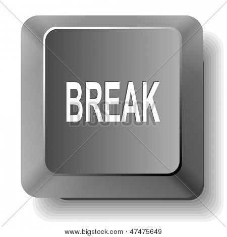 Break. Vector computer key.