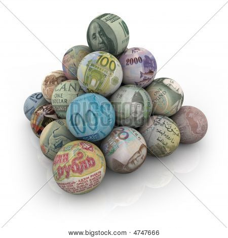 Global Currencies - Ball Pyramid