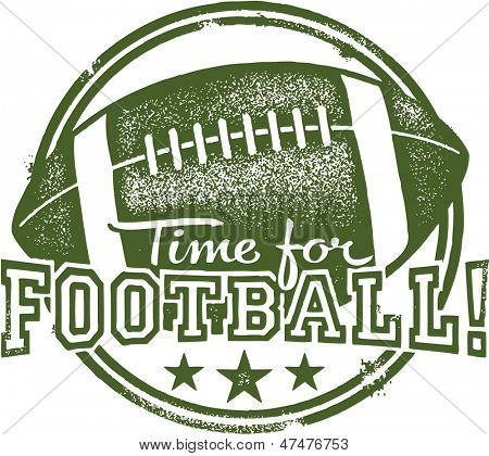 Time for Football Rubber Stamp