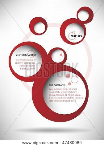 Vector Abstract Web Design Bubble Background