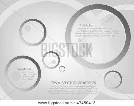 Abstract Web Design Circle Background