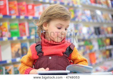 Little Girl In Bookshop
