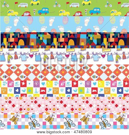 Stripes with funny patterns for baby