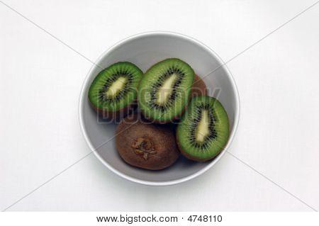 Kiwi Halves In White Bowl 2