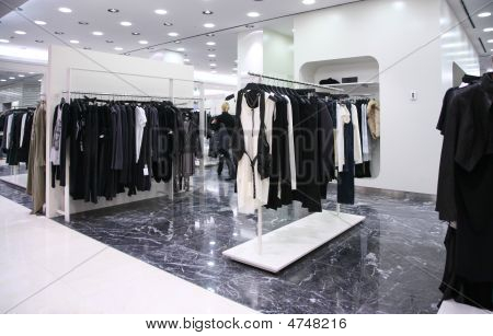 Shop With Clothes On Hangers