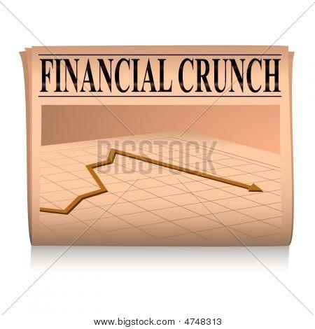 Newspaper Pink Financial Graph
