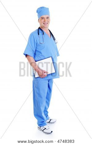 Successful Mature Male Surgeon With A Smile