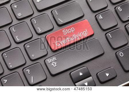 Stop cyber bullying keyboard key