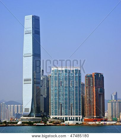 High Rises in Kowloon, Hong Kong SAR, China.