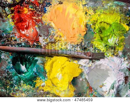the color palette and the brush of a painter.