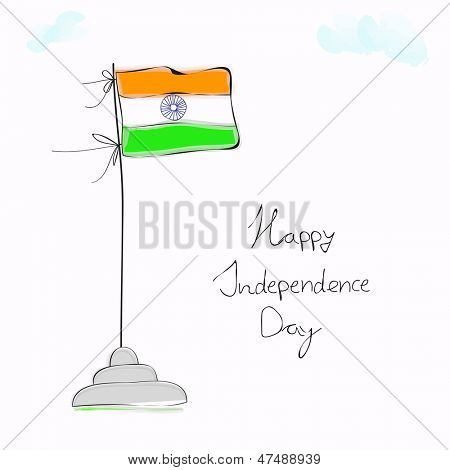 Indian Independence Day background.