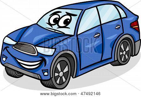 Suv Car Character Cartoon Illustration