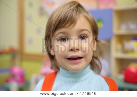 Portrait Of Girl In Kindergarten