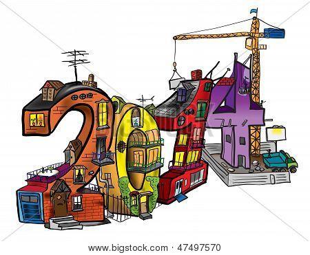 Casas en forma de figuras en 2014