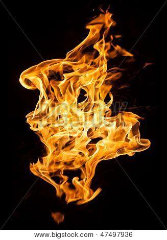 Feuer Flammen auf schwarz