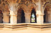 stock photo of vijayanagara  - Lotus Mahal in Hampi state Karnataka India. Detail. ** Note: Slight blurriness, best at smaller sizes - JPG