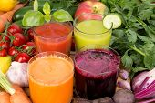 stock photo of root vegetables  - Vegetable juice - JPG