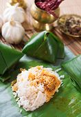 picture of ayam  - Nasi lemak Malay dish - JPG