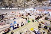 MOSCOW - SEPTEMBER 8: Stands of companies on Moscow International book exhibition and fair in VVC, o