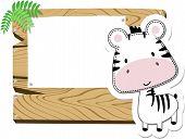 baby zebra blank sign board