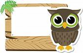 baby owl blank sign board