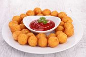 image of dauphin  - dauphine potato and ketchup - JPG