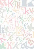 Typo K Pastell poster