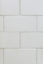 picture of arriere-plan  - Background of a white square brick wall - JPG