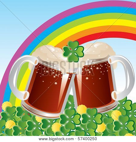 beer and rainbow