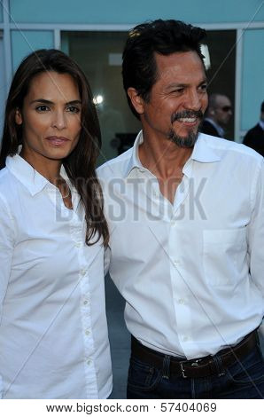 Talisa Soto and Benjamin Bratt at the