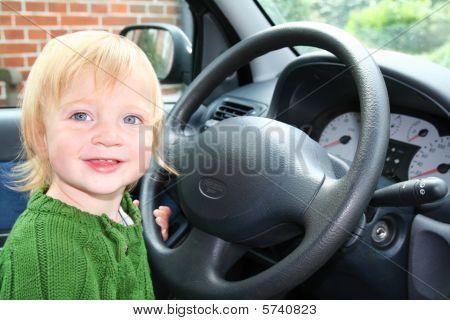 Child Car Steering Wheel Drive