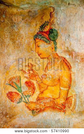 Painting In Sigiriya Caves