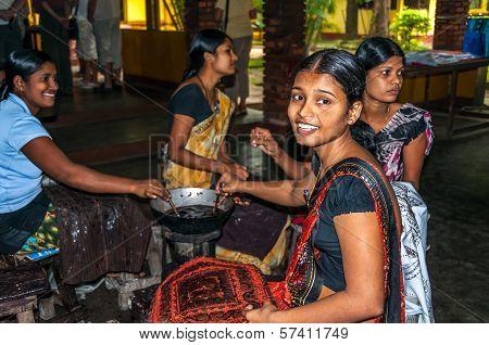 Young Girl Made Batik