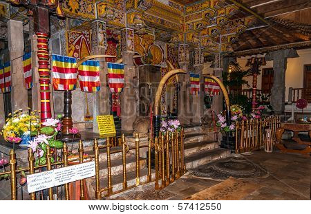 Inside In Kandy Temple