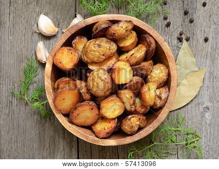 Roasted Potato In Bowl