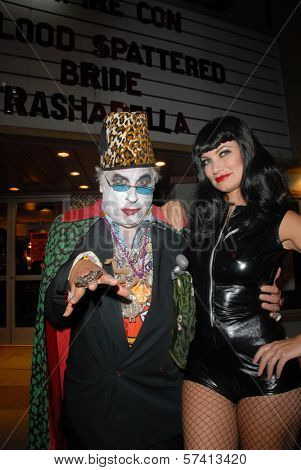 Count Smokula and Rena Riffel at a midnight movie screening of Rena Riffel's