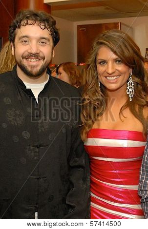 Francis Abbey and Bridgetta Tomarchio  at a screening of