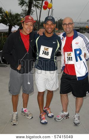 Yancy Arias, Amaury Nolasco and Oskar Cartaya at the Padres Contra El Cancer Annual Stand for Hope 5K Run Walk, Rose Bowl, Pasadena, CA. 06-26-10