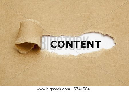 Content Torn Paper Concept poster