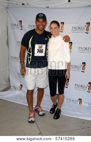Amaury Nolasco and Jennifer Morrison  at the Padres Contra El Cancer Annual Stand for Hope 5K Run Walk, Rose Bowl, Pasadena, CA. 06-26-10