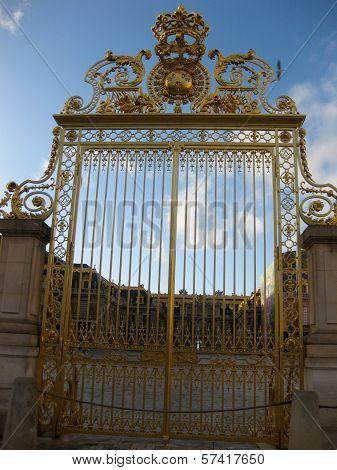 Gate at Versailles Palace, France