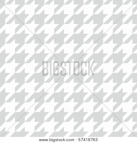 Houndstooth seamless vector grey and white pattern.
