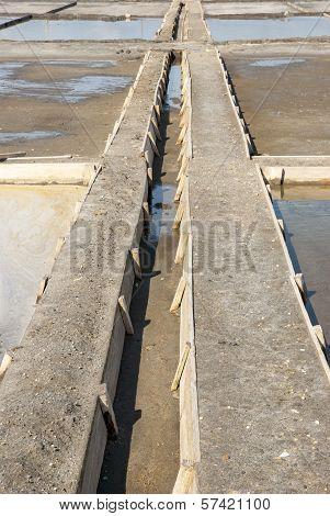 Drainage System Between Salt Evaporation Ponds