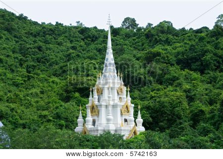 Temple In The Jungle In Thailand