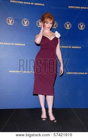 Christina Hendricks  at the 62nd Annual DGA Awards - Press Room, Hyatt Regency Century Plaza Hotel, Century City, CA. 01-30-10