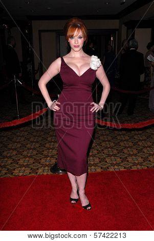 Christina Hendricks  at the 62nd Annual DGA Awards - Arrivals, Hyatt Regency Century Plaza Hotel, Century City, CA. 01-30-10