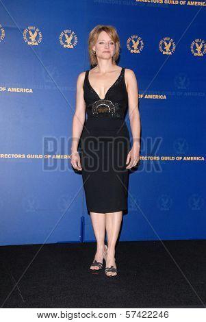 Jodie Foster at the 62nd Annual DGA Awards - Press Room, Hyatt Regency Century Plaza Hotel, Century City, CA. 01-30-10
